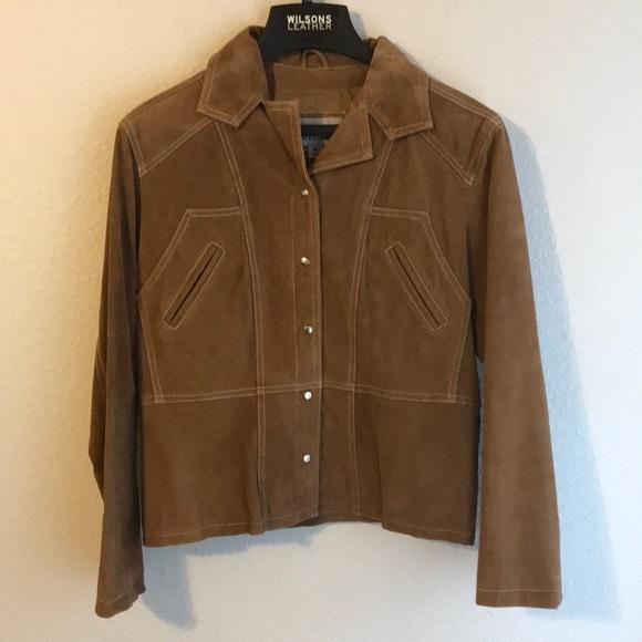 Wilsons Leather Jackets & Blazers - Wilson Tan Leather Jacket